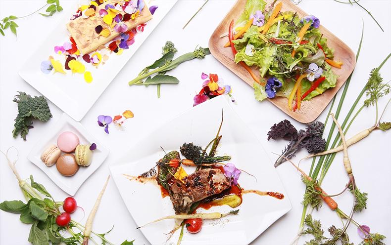 花と緑のカフェレストラン