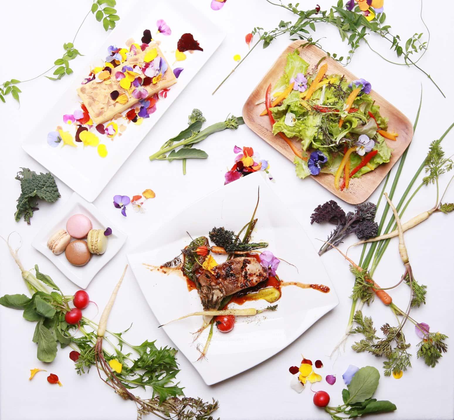 花と緑のレストラン