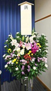 故人へ哀悼の意を込めて・・供花