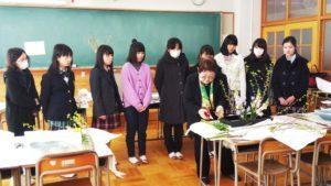 弊社会長:山﨑政子、長野県長野高等学校華道部の顧問に就任