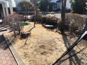 人工芝施工事例:松本市/S邸