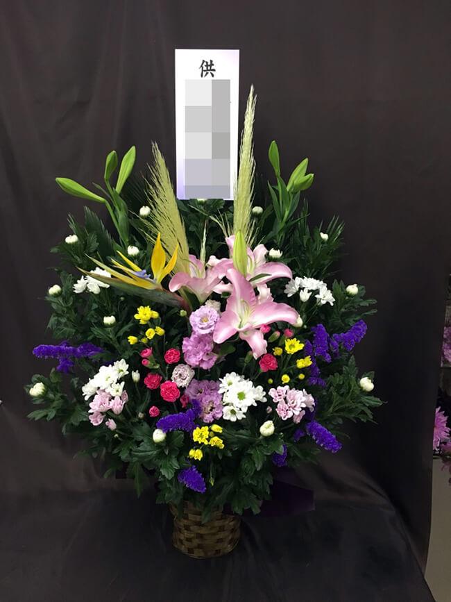 お盆お供え花3