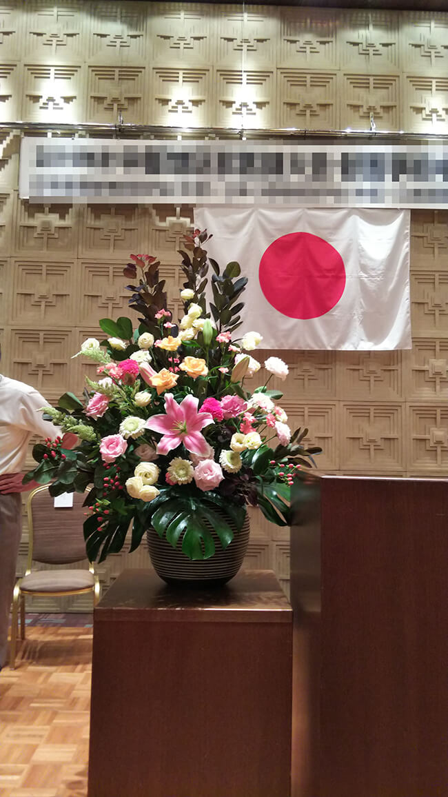 宴席の装飾花2