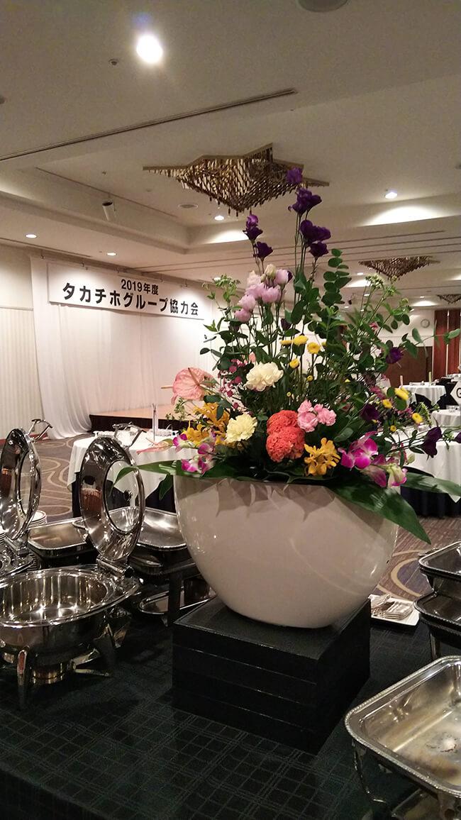 企業協力会社の集い装飾花1