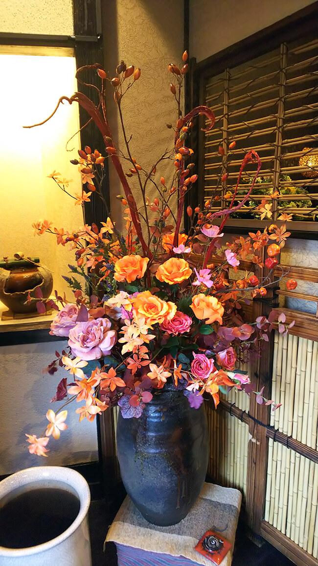 割烹店季節の装飾花(造花)1