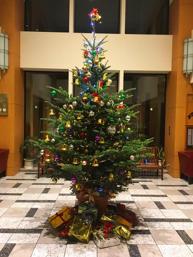 ホテルクリスマス装飾1