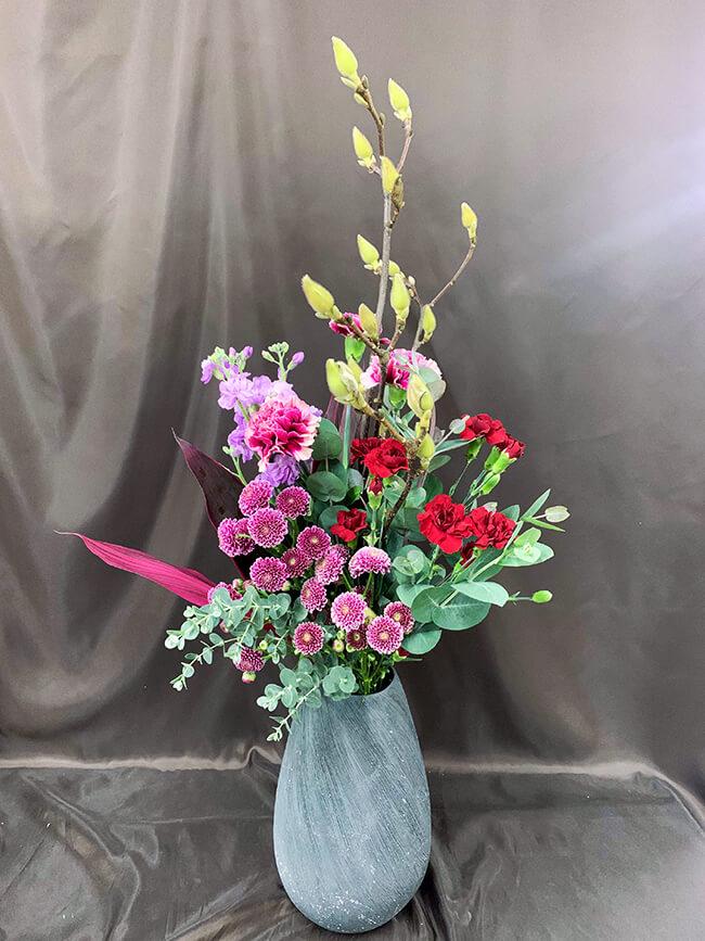 企業への定期届け〔花瓶花〕1