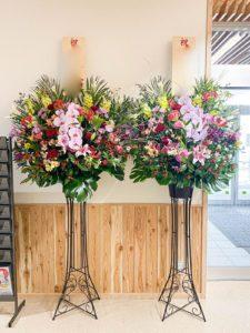【事例紹介】支所の新築祝いに御祝いスタンド花