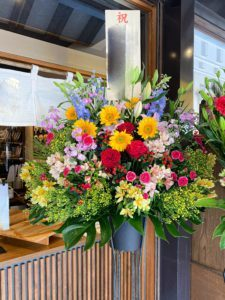 【事例紹介】漬物老舗店のオープンに贈るスタンド花
