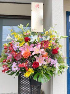 【事例紹介】ショールームOPENに贈るスタンド花