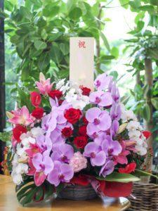 【今日の花贈り】お店の周年祝いのお花