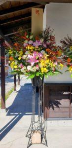 【事例紹介】おやき店新規オープンに贈るお祝いスタンド花