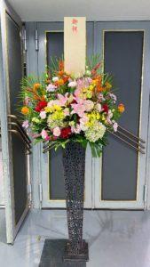 【事例紹介】展覧会にお祝いスタンド花を