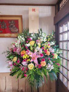 【事例紹介】蕎麦屋OPENに贈るお祝いスタンド花